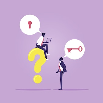 Il team aziendale si consulta a vicenda per risolvere i problemi sul lavoro, trovare soluzioni