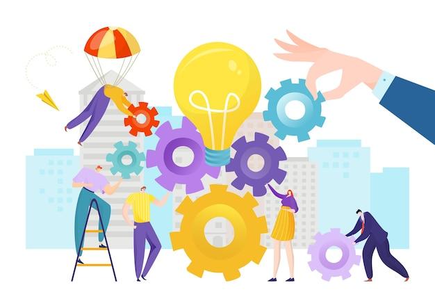 Idea di design di persone di squadra di affari