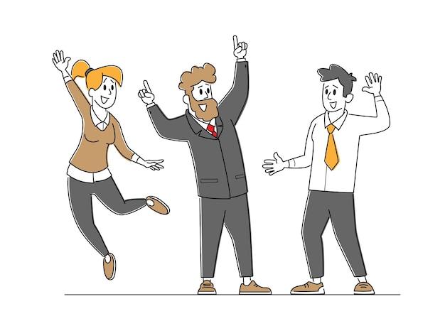 Celebrazione del successo del team aziendale.