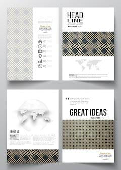 Modelli di business per brochure, flyer, report.