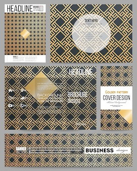 Modelli di business per la presentazione, brochure, flyer o opuscolo. modello oro islamico