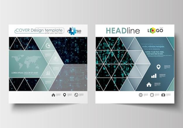 Modelli di business per brochure design quadrato, rivista, flyer, libretto