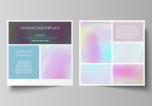 Modelli di business per la brochure di design quadrato