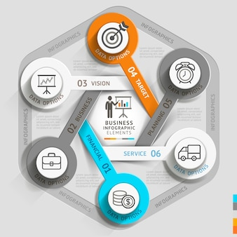 Modello di infografica cronologia aziendale.