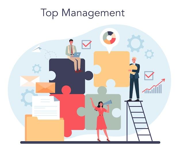 Concetto di top management aziendale.