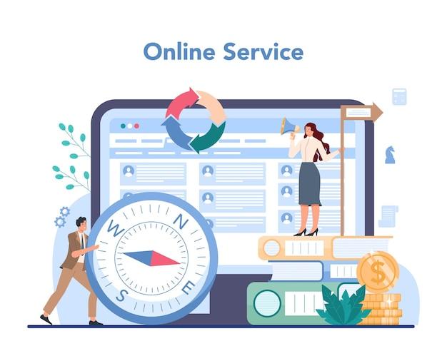 Piattaforma o servizio online di top management aziendale