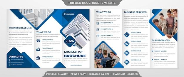 Modello modificabile brochure aziendale a tre ante stile premium