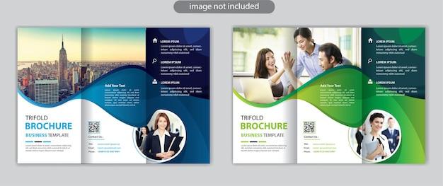 Modello di progettazione del layout di brochure a tre ante aziendali