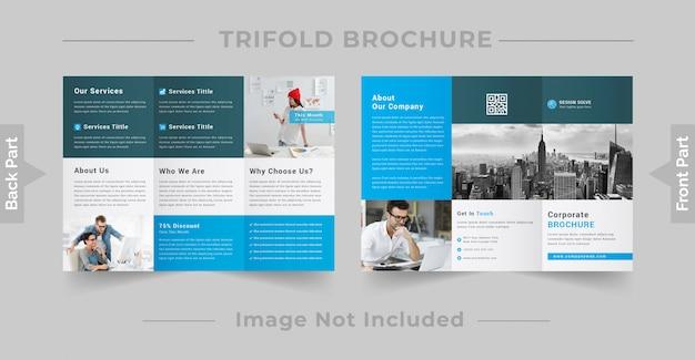 Modello brochure - affari a tre ante