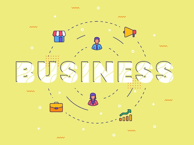 Arte di parola di calligrafia di tipografia di affari