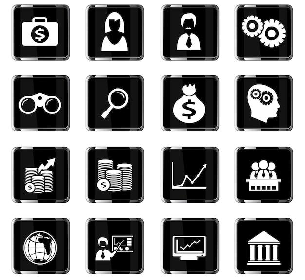 Icone vettoriali aziendali per la progettazione dell'interfaccia utente