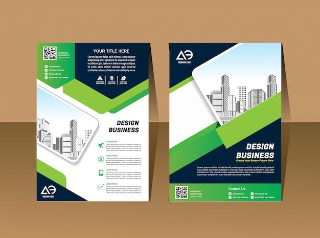 Insieme di vettore di affari progettazione della copertura del modello del modello dell'opuscolo