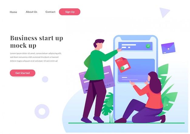 Sviluppatore di pagine di destinazione web aziendali mobile