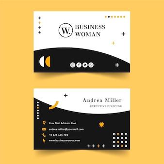 Modello di biglietto da visita della donna di affari