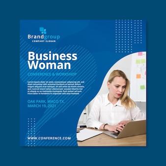 Modello di volantino donna d'affari Vettore Premium