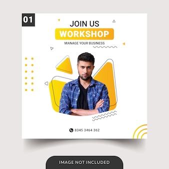 Modello di social media workshop aziendale