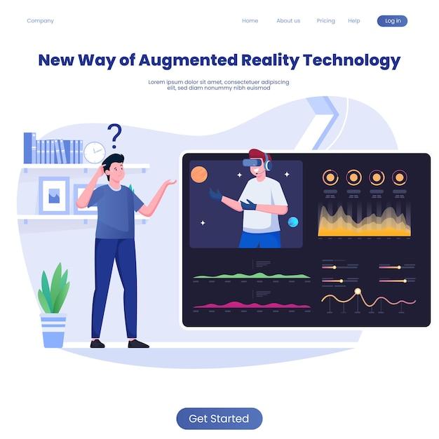 Le aziende utilizzano la realtà aumentata o la tecnologia della realtà virtuale per entrare nei grafici dei dati