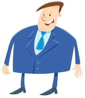 Personaggio dei cartoni animati uomo d'affari o capo