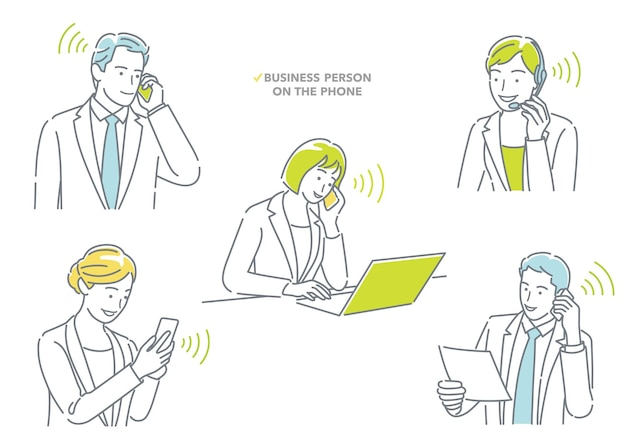 Uomo d'affari e donna d'affari che parlano al telefono