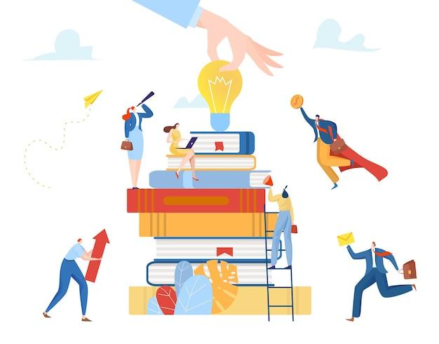 Imprenditore e imprenditrice minuscoli assistenti di lavoro di squadra di carattere corporativo