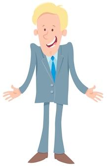 Uomo d'affari personaggio dei cartoni animati comico