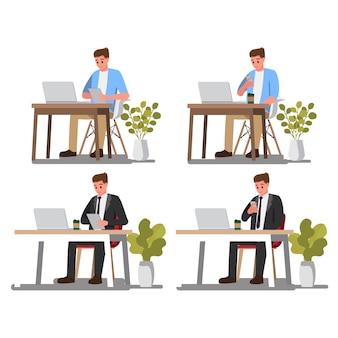 Consulenza dell'uomo d'affari. fumetto per l'affare, carattere dell'illustrazione