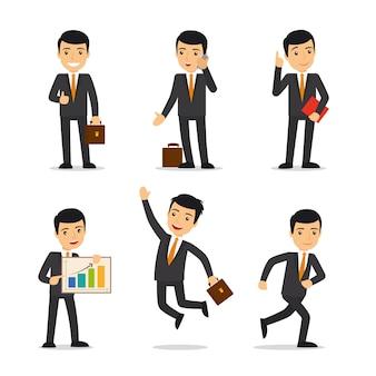 Uomo d'affari in diverse pose