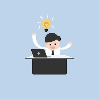 Uomo d'affari ottenere un concetto di idee