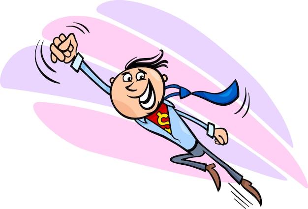 Illustrazione del fumetto di supereroe uomo d'affari