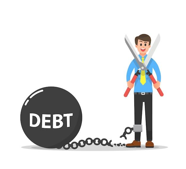 Un uomo d'affari che è riuscito a uscire dalla schiavitù del debito