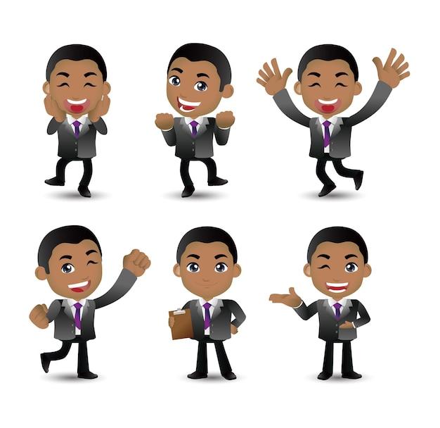 Uomo d'affari con pose diverse