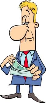 Uomo d'affari con i soldi
