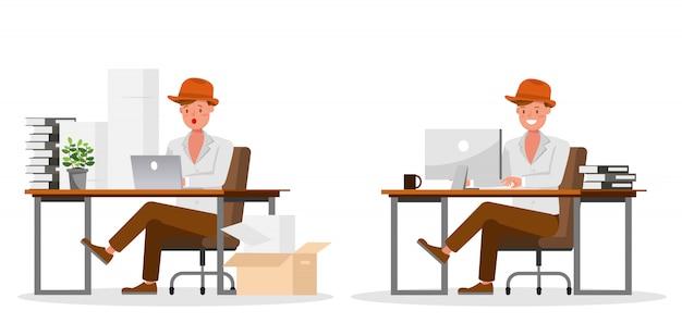 Carattere di lavoro dell'uomo d'affari