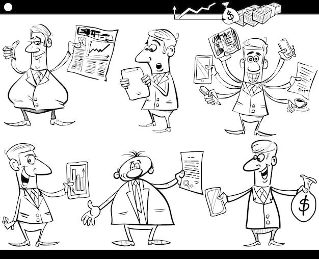 Insieme del fumetto degli uomini d'affari