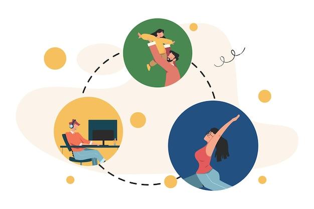 Gli uomini d'affari discutono di social network, social network, chat, fumetti