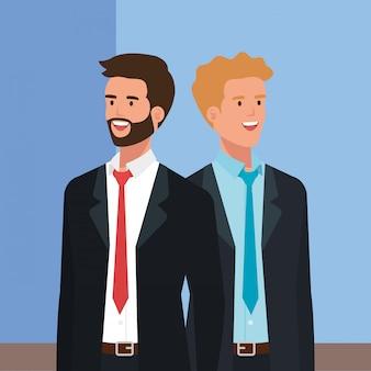 Carattere di avatar elegante di uomini d'affari