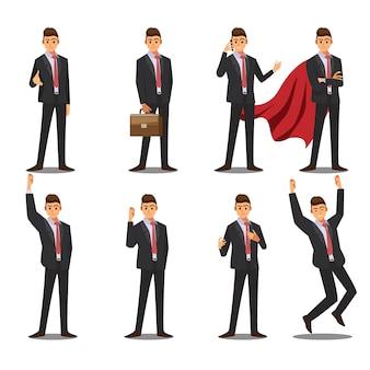 Gli uomini d'affari hanno impostato il personaggio dei cartoni animati dell'illustrazione.