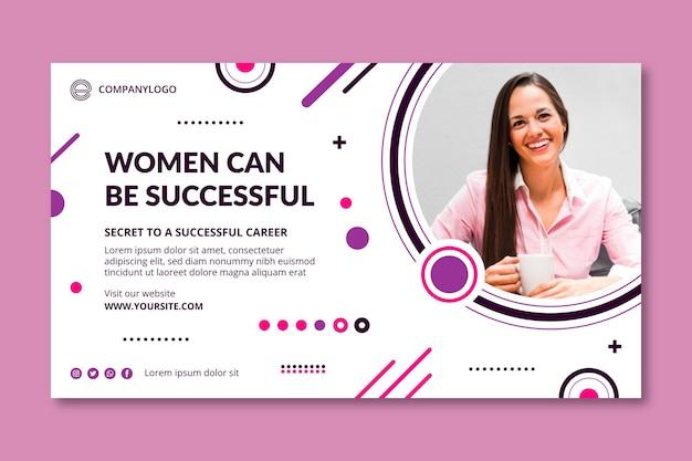 Modello di banner per donna d'affari