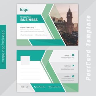 Busness post card design Vettore Premium