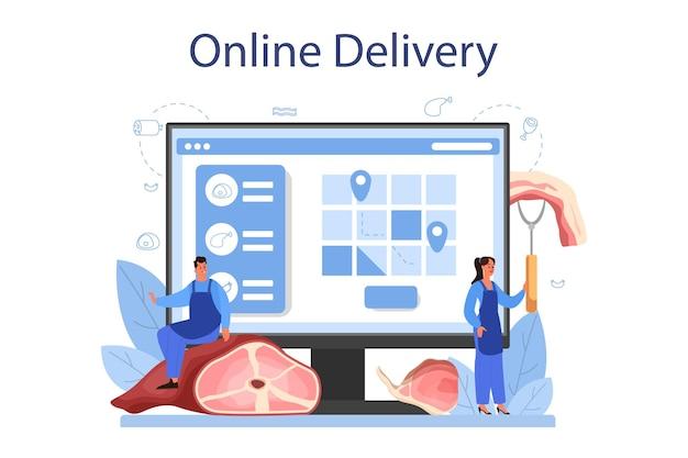 Servizio o piattaforma online da macellaio o da carne