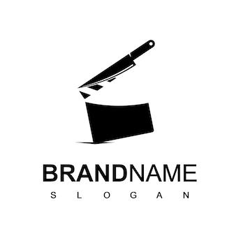 Modello di logo del film del macellaio