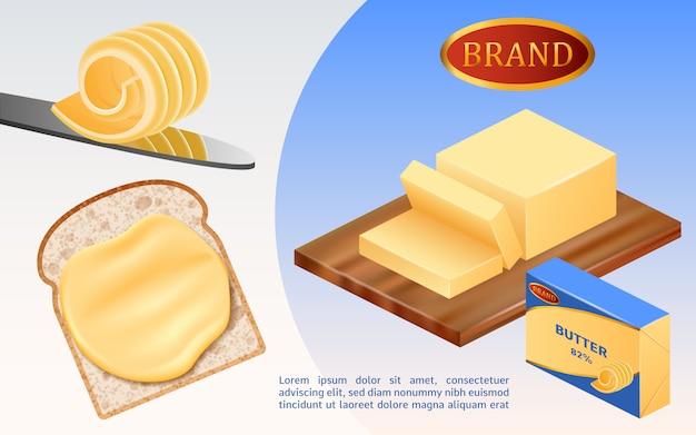 Concetto di latte burro