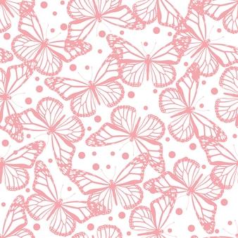 Seamless pattern di farfalle