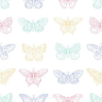 Modello senza cuciture di farfalle
