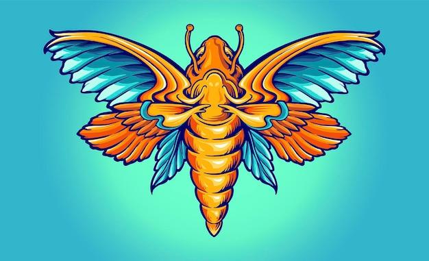 Farfalla color arcobaleno completo illustrazioni vettoriali per il tuo lavoro logo, t-shirt di merce mascotte, adesivi e disegni di etichette, poster, biglietti di auguri che pubblicizzano aziende o marchi.