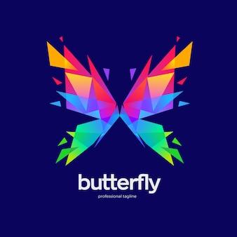 Disegno del logo della farfalla
