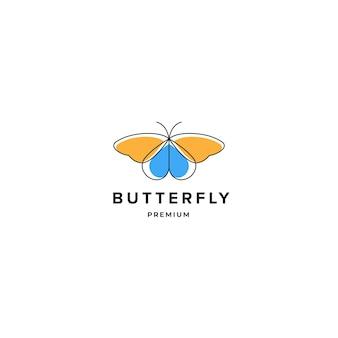 Ispirazione del logo della farfalla, modello di concetto di design del logo di bellezza spa