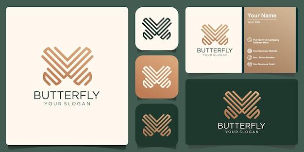 Modello di logo della farfalla. illustrazione vettoriale.