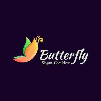 Modello di logo della farfalla