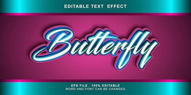 Effetto testo farfalla modificabile